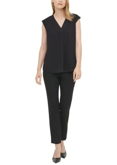 Calvin Klein Draped Sleeveless Top