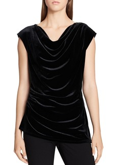 Calvin Klein Draped Velvet Top