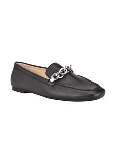 Calvin Klein Elanna Leather Chain Link Loafer (Women)