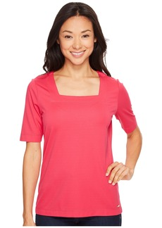 Calvin Klein Elbow Sleeve with Square Neck Top