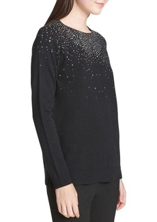 Calvin Klein Embellish Long-Sleeve Sweater