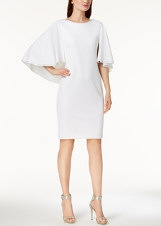 Calvin Klein Embellished Capelet Dress