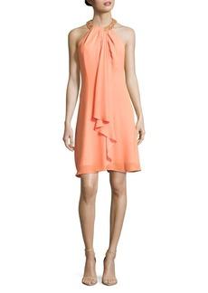 Calvin Klein Embellished Chiffon Dress