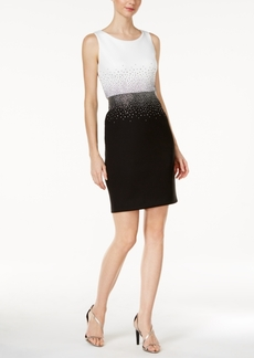 Calvin Klein Embellished Contrast Sheath Dress