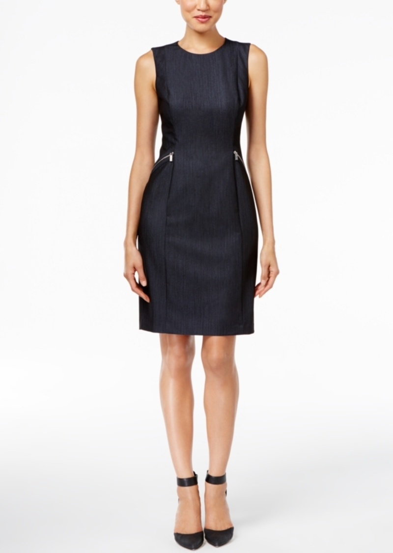 Calvin Klein Calvin Klein Embellished Denim Sheath Dress | Dresses ...