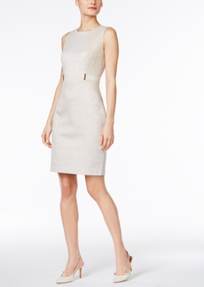 Calvin Klein Embellished Jacquard Sheath Dress