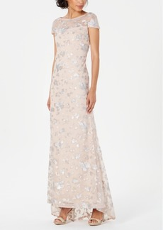 Calvin Klein Embellished Mesh Gown