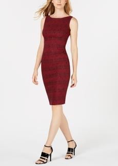 Calvin Klein Embellished Plaid Sheath Dress
