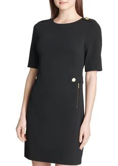 Calvin Klein Embellished Ponte Sheath Dress