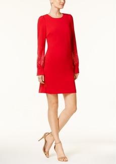Calvin Klein Embellished-Sleeve Dress, Regular & Petite Sizes
