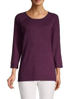 Calvin Klein Embellished Stripe Sweater