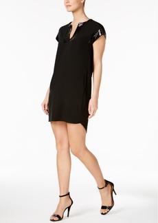 Calvin Klein Embellished-Trim Shift Dress