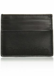 Calvin Klein Men's Card Case with Perforated Logo black