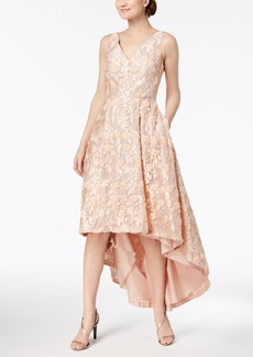 Calvin Klein Embroidered High-Low Gown