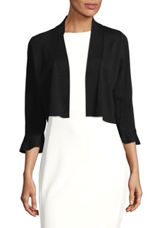 Calvin Klein Embroidered Lace-Back Shrug