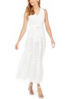 Calvin Klein Embroidered Maxi Dress