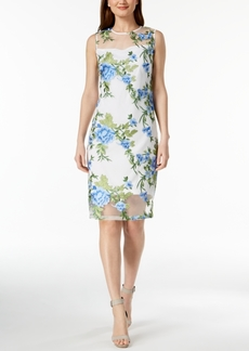 Calvin Klein Embroidered Mesh Dress, Regular & Petite Sizes