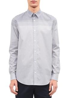 Calvin Klein Engineered Plaid Stripe Shirt
