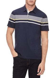 Calvin Klein Engineered Stripe Cotton Polo