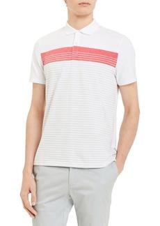 Calvin Klein Engineered Striped Short-Sleeve Cotton Polo
