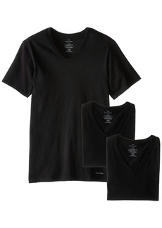 Calvin Klein Men's Undershirts Cotton Classics 3 Pack Slim Fit V Neck Tshirts