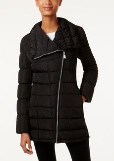 Calvin Klein Water-Resistant Asymmetrical Puffer Coat