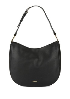 Calvin Klein Erica Pebbled Leather Hobo Bag