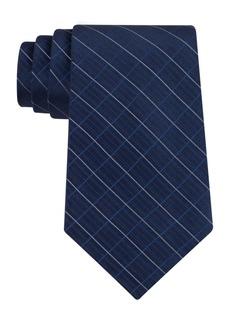 Calvin Klein Etched Large Grid Windowpane Slim Tie