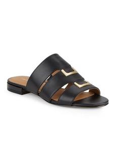 Calvin Klein Evita Leather Slide Sandals