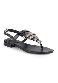 Calvin Klein Evonie Leather Sandals