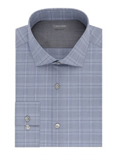 Calvin Klein Exploded Check Extra Slim-Fit Dress Shirt