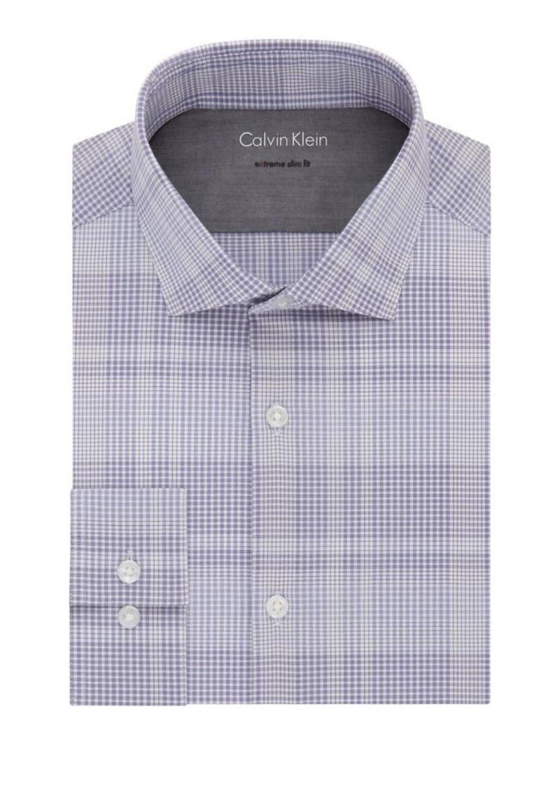 Calvin Klein Extra-Slim Fit Check Dress Shirt