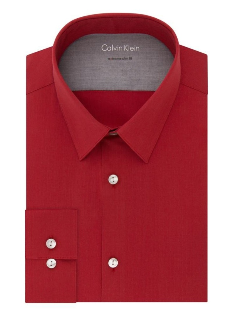 Calvin klein calvin klein extra slim fit classic dress for Calvin klein athletic fit dress shirt