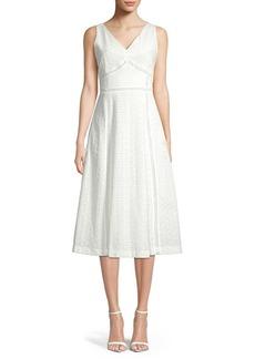 Calvin Klein Eyelet A-Line Midi Dress