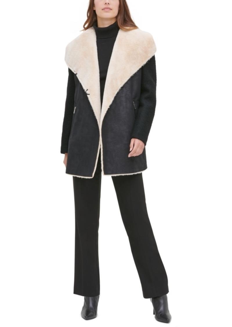 Calvin Klein Faux-Fur Faux-Suede Jacket