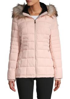 Calvin Klein Faux Fur Hooded Puffer Jacket