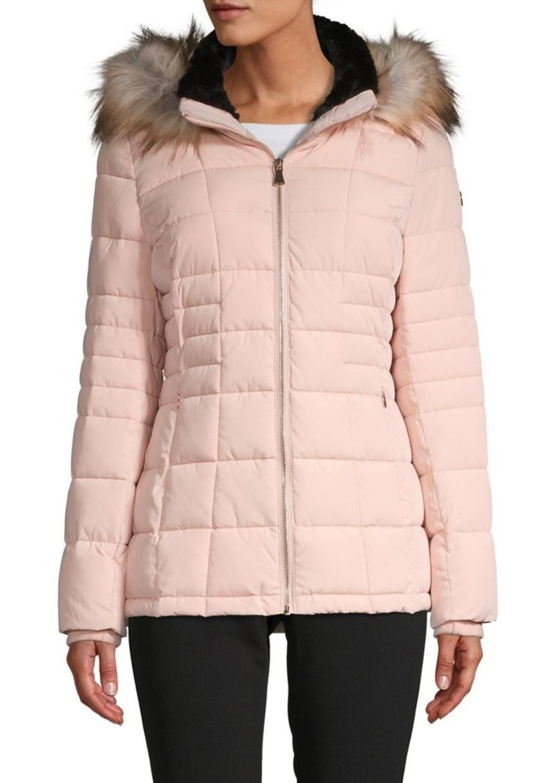 Calvin Klein Faux Fur Hooded Puffer Jacket