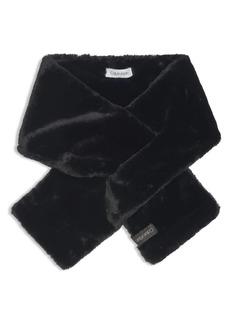 Calvin Klein Faux-Fur Pull Through Scarf