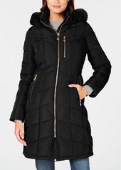 Calvin Klein Faux-Fur-Trim Hooded Puffer Coat
