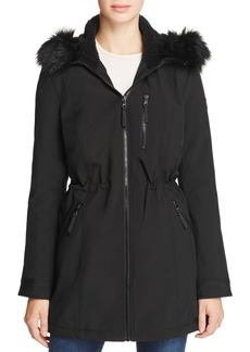 Calvin Klein Faux Fur-Trim Jacket