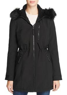 Calvin Klein Faux Fur-Trim Jacket