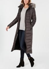 Calvin Klein Faux-Fur-Trim Maxi Puffer Coat