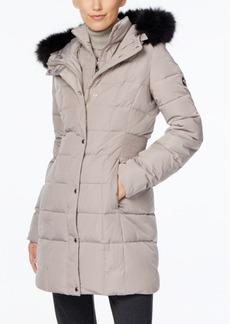 Calvin Klein Faux-Fur-Trim Water-Resistant Down Puffer Coat