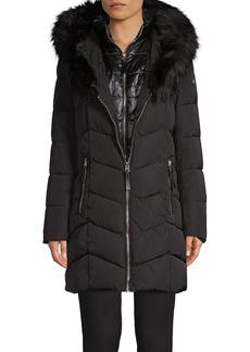Calvin Klein Faux Fur-Trimmed Puffer Jacket