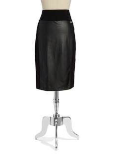 Calvin Klein Faux-Leather Power Stretch Skirt