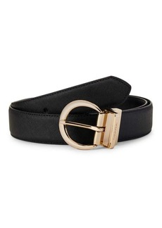 Calvin Klein Faux Leather Slim Belt