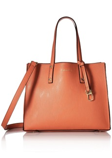 Calvin Klein Faux Leather Small East/West Tote deep Apricot