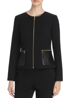 Calvin Klein Faux Leather Trim Jacket