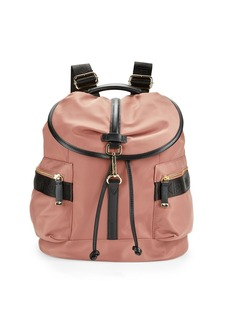 CALVIN KLEIN Faux Leather-Trimmed Nylon Backpack