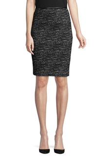 Calvin Klein Faux Leather-Trimmed Pencil Skirt